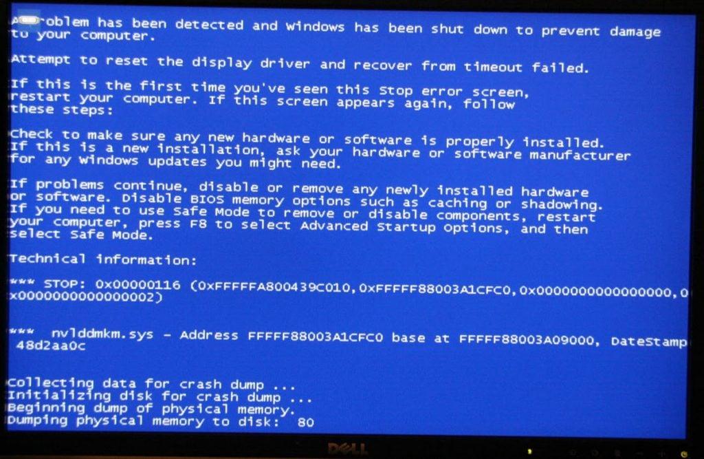 BlueScreen's på en live-encoder viser sig ofte pga. driver ustabilitet. I tilfældet her refererer nvlddmkm.sys til en ustabil Geforce driver-version.